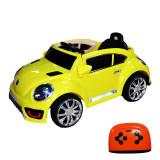 Masina electrica cu telecomanda Beetle 2 motoare 12 V