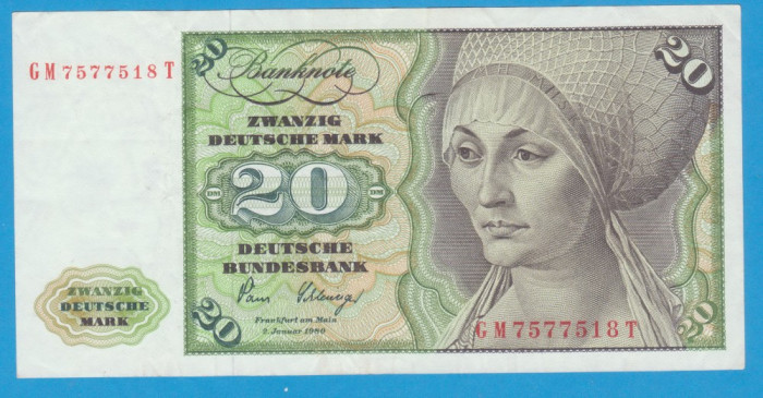 (2) BANCNOTA GERMANIA - 20 MARK 1980 (2 IANUARIE 1980)