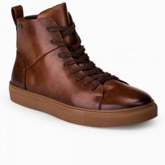 Pantofi inalti barbati T322-maro