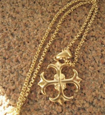 Lant +medalion   inox placat = 30 ron foto