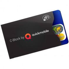 Plic Protectie Card Bancar Contactless RFID OEM C-Block Negru