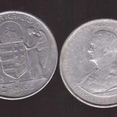 Ungaria 1943 - 5 pengo Horthy