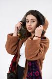 Palton Maro, Lana, Marime L-XL
