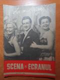 Scena si ecranul ianuarie 1957-nr . de anul nou,tanti cocea,ileana predescu
