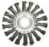 Perie circulara din sarma 115 mm x 15 mm cu toroane VOREL