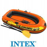 Cumpara ieftin Barca gonflabila, set vasle + pompa, INTEX 58357 Explorer Pro 200, 196x102x33 cm
