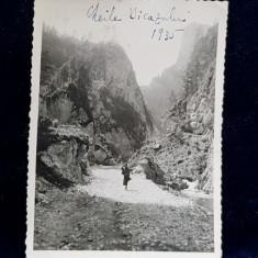 CHEILE BICAZULUI , FOTOGRAFIE MONOCROMA,PE HARTIE LUCIOASA , DATATA PE FATA 1935