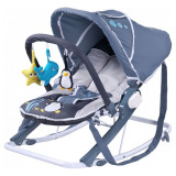 Scaun balansoar pentru bebelusi Caretero AQUA SBCA-G, Gri