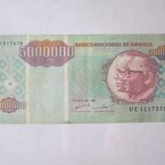 Cumpara ieftin Raritate! Angola 5 000 000/5 milioane Kwanzas 1995