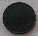 G5. ROMANIA 10 BANI 1867 HEATON detalii clare **