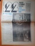 """ziarul """"22"""" 2 februarie 1990-silviua brucan,pavel campeanu,procesul comunistilor"""