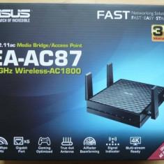Access Point wireless Asus EA-AC87 Wireless AC1800 Media Bridge, 802.11ac, nou!