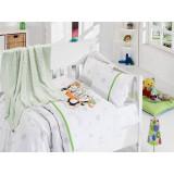 Set de pat pentru bebelusi, 5 piese, Zen Art Deco