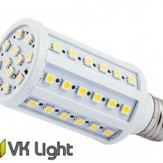 Bec LED E27, Putere 9W (100W), 900lm, Lumina Calda, 60 SMD, VoiceKraft