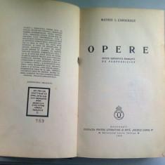 OPERE - MATEIU I. CARAGIALE