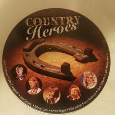 [CDA] V.A. - Country Heroes  - compilatie pe cd - steel case
