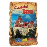 Magnet Castelul Bran, lemn, Alexer