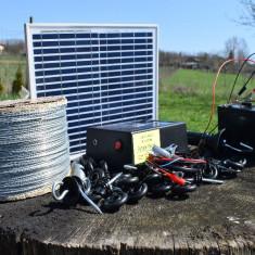 Pachet Gard electric 6,6J cu 1000m Sârmă si Panou Solar cu Garanție 2 ani