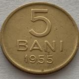5 Bani 1955 Cu-Ni, Romania  VF, Cupru-Nichel