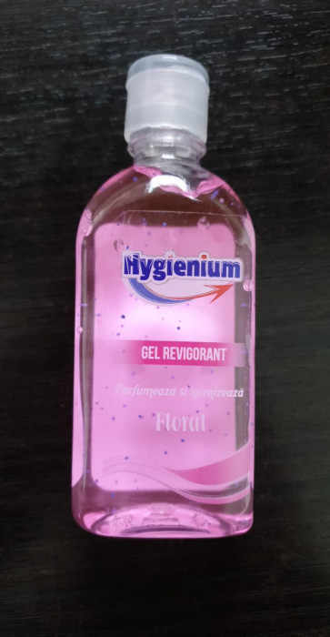 Gel antibacterian Hygienium igienizant 85ml Floral Avizat de Ministerul Sanatatii pe stoc