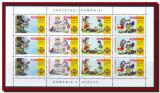 2005 Romania - Cercetasii Romaniei, coala de 12 timbre (3 serii) LP 1686 a, MNH, Organizatii internationale, Nestampilat