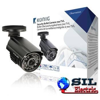 Camera securitate 700 TVL incl. cablu 18 m foto
