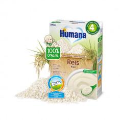 Cereale ECO, Orez fara lapte Humana, 200 g, 4 luni+