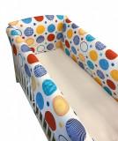 Cumpara ieftin Aparatori laterale protectii pat 120x60 cm Deseda Maxi Buline colorate