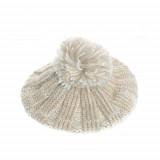 Basca tricotata, cu fir argintiu, Meli Melo
