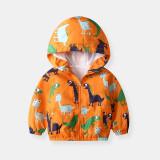 Geaca impermeabila primavara/toamna portocalie (Marime Disponibila: 3 ani)