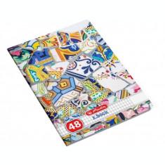 Caiet A4, 48 file, 70g/mp, matematica, Mozaic Herlitz