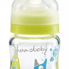 Set 2 biberoane sticla gat larg 120ml Monster Thermobaby