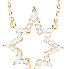 Colier Gold Sparkle Star