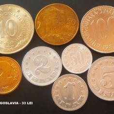 LOT / SET MONEDE YUGOSLAVIA, anii 1953 - 1992  * cod 19 = MAJORITATEA UNC!
