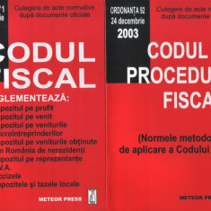 Codul fiscal + Codul de procedură fiscală