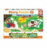 Cumpara ieftin Puzzle panoramic Story puzzle farm, 26 piese, Educa