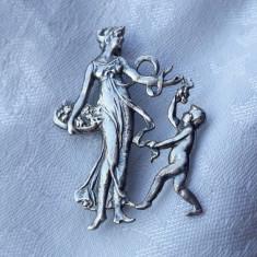 BROSA argint FRANTA 1900 art nouveau SPLENDIDA exceptionala UNICAT de efect