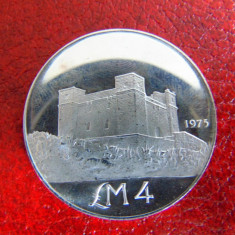 Moneda argint 4 Lira malta 1975