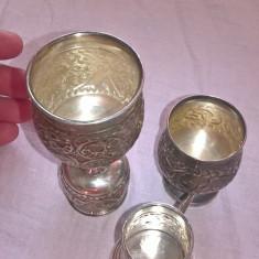 Set pahare argint fara marcaj