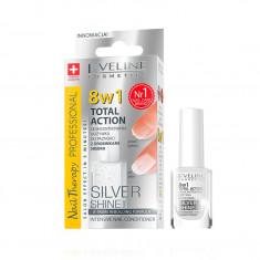 Tratament profesional pentru unghii 8 in 1, Eveline Cosmetics, Silver Shine 12ml