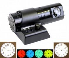 Ceas cu proiectie LED, cu telecomanda, logo personalizabil, negru - XMLT6LED foto