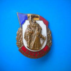 HOPCT ROMANIA INSIGNE VECHE MILITARA VETERAN DIN RAZBOIUL ANTIFASCIST   [ 3 ]