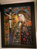 """""""Maica Domnului Indurerata"""" - icoana pe sticla pictata de Maria Chifor II"""