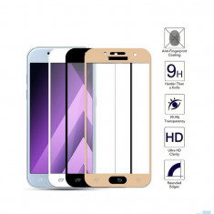 Geam Soc Protector Full LCD 4D Samsung Galaxy A8 (2018) A530 Alb