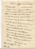 Document manuscris Oradea 1931 limba maghiara