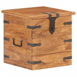 VidaXL Cufăr, 40 x 40 x 40 cm, lemn masiv de acacia
