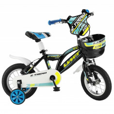 """Bicicleta Copii Umit Z.Trend, Culoare Negru/Galben , Roata 16"""", Cadru OtelPB Cod:16020000003"""