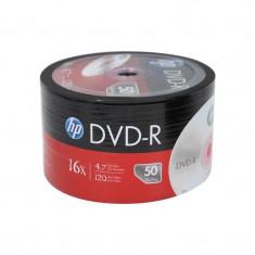 DVD-R 4.7 GB, viteza de scriere 16X, 120 min, cake 50 bucati, HP