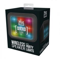 Boxa Portabila Trust Dixxo Cube, lumini, Neagra