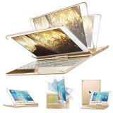 "Cumpara ieftin Husa Tableta Tastatura Apple Ipad 1St Generation 9.7"" Air 1 Smartbook Keypad ofera protectie Luxury Rotire 360 Gold"